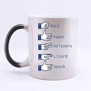 11oz Rock Paper Scissors Lizard Spock Best Choice Color Changing Mug Morphing Coffee Mugs Cup