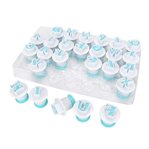 26PCS Cookie Cutters Set Letter - Shape DIY Biscuit Baking Mold Fondant Cutter Cookie Mould Cake Decorating Tool (Capital Letter)