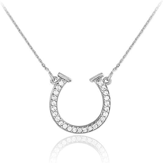 Gold//Silver Horseshoe Lucky Horse Shoe Necklace Pendants F2K9