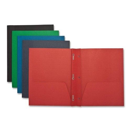 Wholesale CASE of 15 - Sparco 2-Pocket Folders w/ Fasteners-2-Pocket Folders,w/Fasteners,1/2'' Cap,Letter,25BX,Assorted
