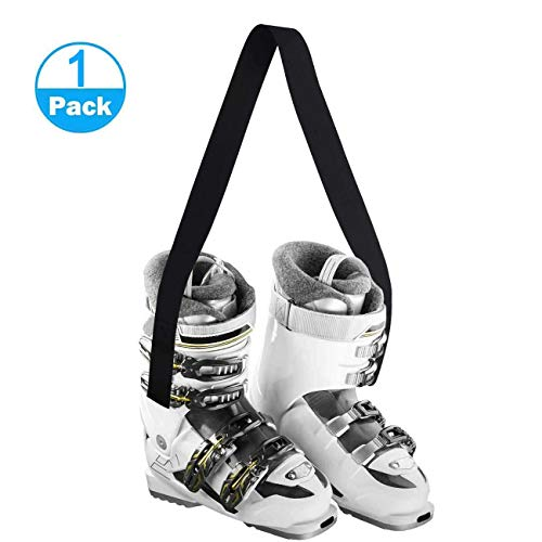 XJunion Ski and Snowboard Boot Carrier Strap, Snowboard Boot Shoulder Sling Leash,Shoulder Sling Leash Also for Rollerblades & Ice Skates