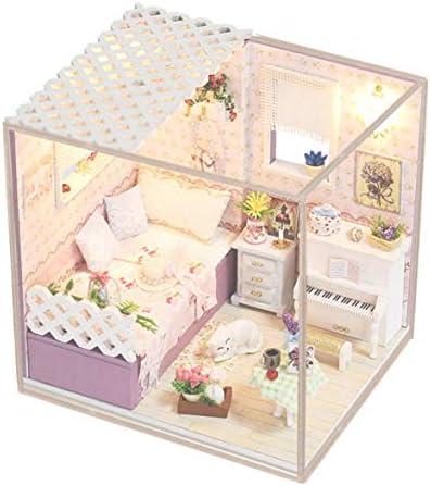 Bibipangstore Diy Casa Batllo Gemonteerdモデル手作りDiy組み立ておもちゃ木製モデルおもちゃギフトM-008