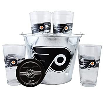 Philadelphia Flyers 16-Ounce Pint Glass /& 4 Coasters Gift Set