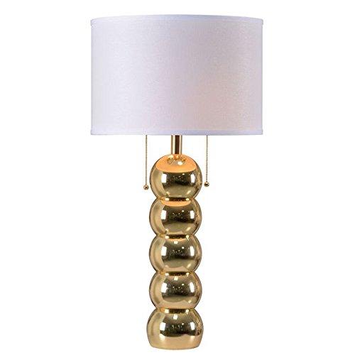 Catapiliar Table Lamp- Gold Stone Finish