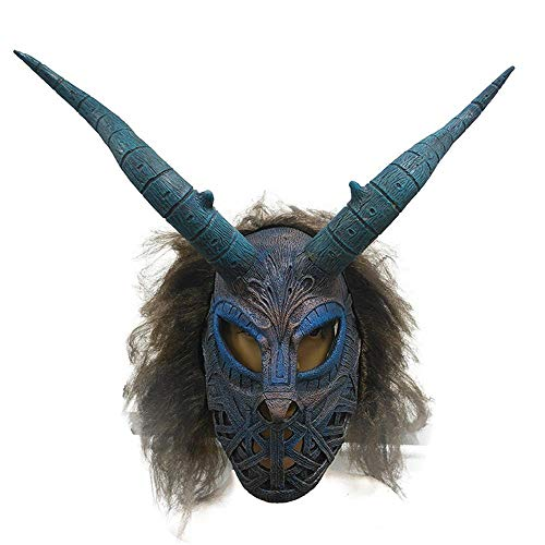 Rwdacfs Halloween mask,Movie Props Hood Horror Halloween mask ()
