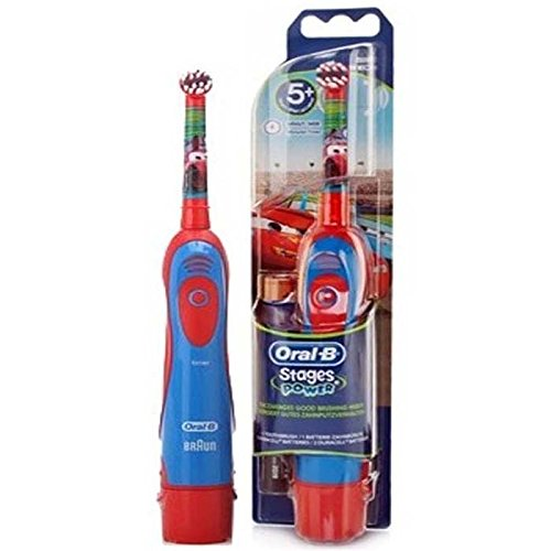 Braun ORAL-B 4510K Stages Power Electric Toothbrush for Kids [ Disney Cars ] (Oral B Stages Electric Toothbrush)