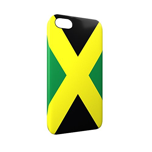 Flag of Jamaica Glossy Hard Snap-On Protective iPhone 5 / 5S / SE Case Cover