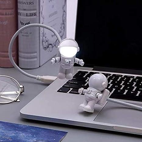 Spaceman Shape USB LED Night Light Astronaut Mini Flexible Adjustable Desk Lamp