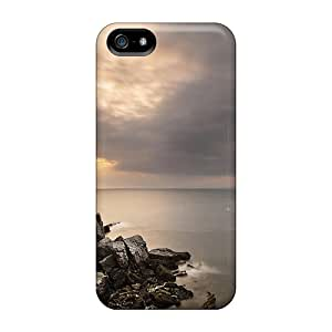 New Style 5/5s Protective Cases Covers/ Iphone Cases - Stairs Down To A Gray Sea Inlet