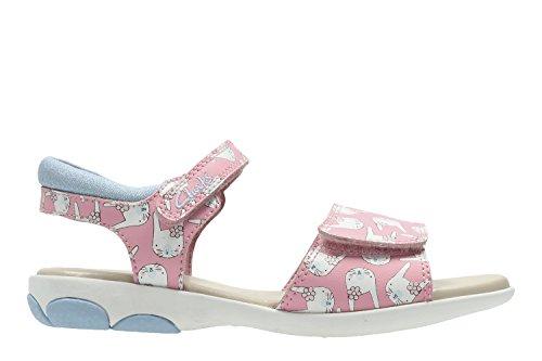 Clarks  Nibbleshop Inf, Sandales de marche pour fille rose rose
