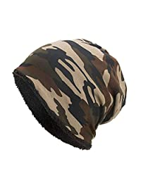 Emerayo Caps for Women Distressed,Warm Camouflage Crochet Winter Wool Ski Beanie Hat