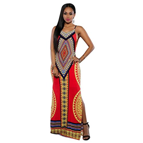 Buy AIMTOPPY Women's Summer Boho Casual Cocktail Long Maxi Evening Party Beach Dress