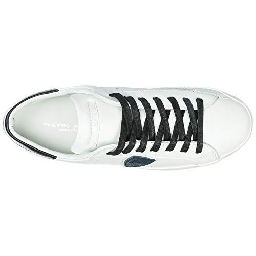 bleu noir Noir Model Uomo Philippe Blanc Sneakers Bleu Blanc pwzR1Uq