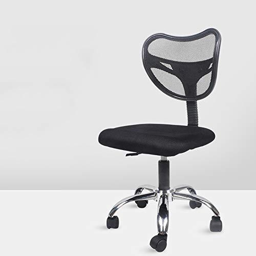 PQXOER kontorsstol mellanrygg nät kontorsstol – justerbar lutningsvinkel, uppfällningsarmar, ländrygg stöd och nackstöd datorbordsstol (svart) hemmakontor skrivbordsstolar