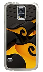 Samsung Galaxy S5 customizable covers Cool Tsunami Art 3D PC Transparent Custom Samsung Galaxy S5 Case Cover