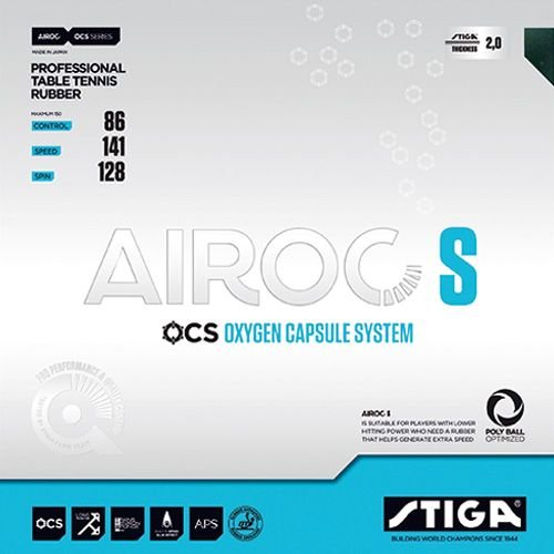 Stiga goma airoc S, Options D '2,1 mm, rojo Options D '2