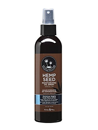 8 Oil Body Oz (Earthly Body Moisturizing Oil Spray with Hemp Seed Moroccan Nights 8 oz)