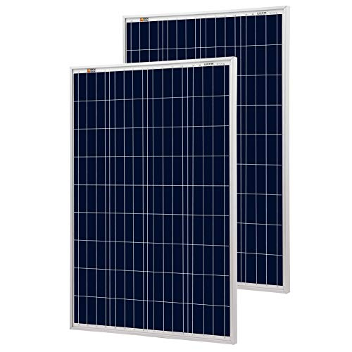 Richsolar 2pcs 100 Watt Polycrystalline 100W 12V Solar Panel High Efficiency Poly Module RV Marine Boat Off Grid (2pcs)
