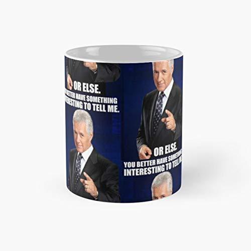 Jeopardy Mug, alex trebek Cup, 11 Ounce Ceramic Mug, Perfect Novelty Gift Mug, Funny Gift Mugs, Funny Coffee Mug 11oz, Tea Cups 11oz