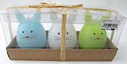 Bunnies in a Crate Rabbit Candles Set of 3 From Tag