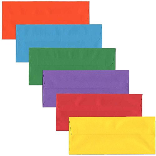 JAM PAPER #10 Business Colored Envelopes - 4 1/8 x 9 1/2 - Assorted Colors - 150/Pack ()