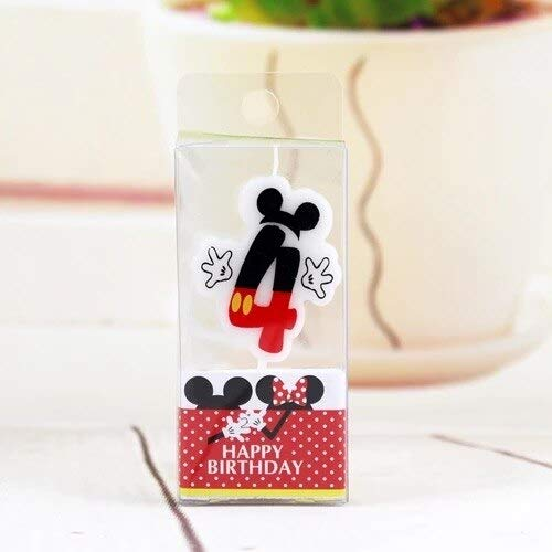 UrbanSwing Birthday Candle Mickey Minnie Candle 0 4 5 7 8 Anniversary LUHONGPARTY Candle 9 Cake Supplies Decoration Age Party 6 Numbers]()