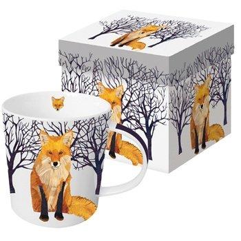 Tasse Winter Fuchs Amazon De Kuche Haushalt
