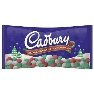 Cadbury Holiday Candy Coated Solid Milk Chocolates, 8-Ounce Bag (Pack of 2) (Mini Cadbury Eggs Christmas)
