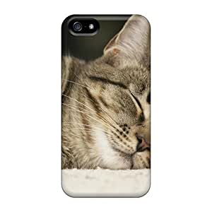 Hot Snap-on Animals Sleeping Cat Hard Covers Cases/ Protective Cases For Samsung Galaxy S5 I9600/G9006/G9008 Kimberly Kurzendoerfer