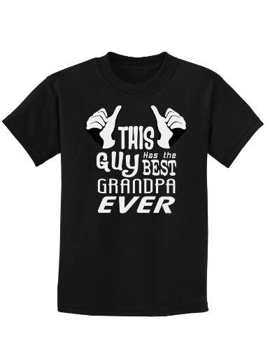 This Guy Has The Best Grandpa Ever Childrens Dark T-Shirt - Black - XL