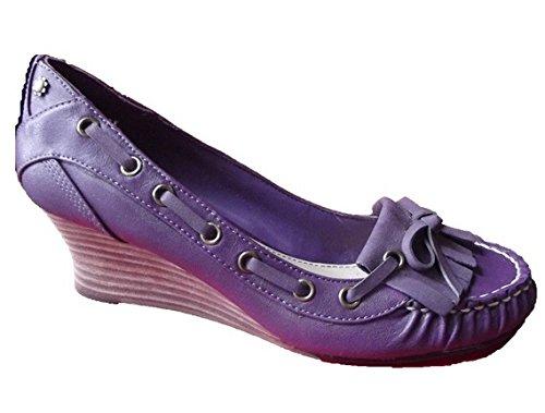 Esprit Damen Schuhe Mokassin Lila