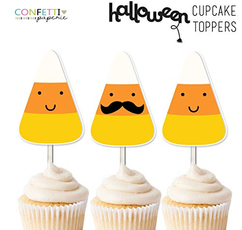 Candy Corn Party Toppers, Cupcake Toppers, Party Decor, Halloween Decor, Halloween Toppers, Halloween Party ()