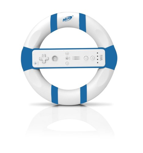Wii Nerf Racing Wheel - Blue (Nerf Race)