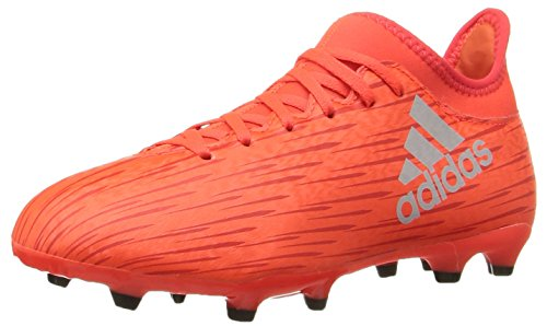 adidas Performance Kids' X 16.3 Firm Ground Soccer Cleats, Solar Red/Metallic Silver/Red, 4.5 M US Big Kid