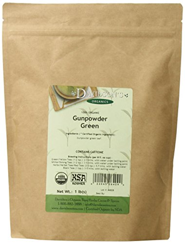 Davidson's Tea Bulk, Gunpowder Green, 1-Pound Bag