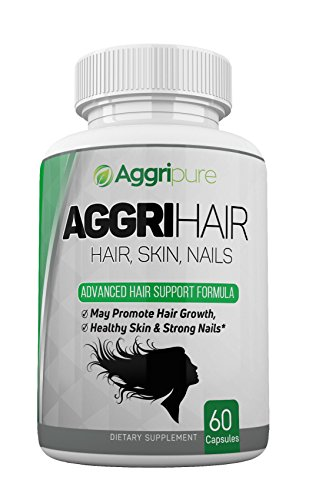 Aggrihair Hair Growth Vitamins Super Effective - Best Potency in Each Capsule for Hair Strengthening, Rich Shining Hair, Better Hair Strength, Deep Longer Hair, Remedy from Hair Fall - 60 Caps