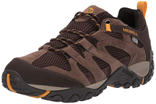 Merrell Men's ALVERSTONE Waterproof Hiking Shoe, Stone, 12.0