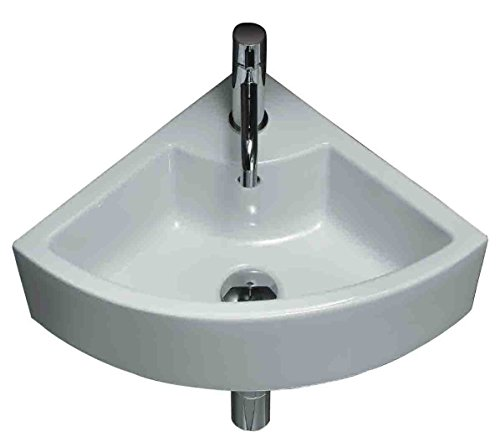 19.25-in. W Above Counter White Vessel Set For 1 Hole Center Faucet - Faucet Included