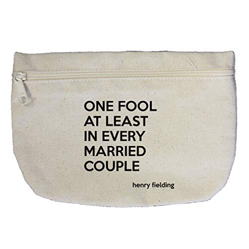 One Fool At In Every Married Couple (Henry Fielding) Cotton Canvas Makeup Bag by Style In Print