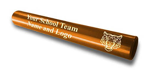 Custom Gold Aluminum Track and Field Relay Baton Personalized Gift - Your Team Name and Logo Engraved