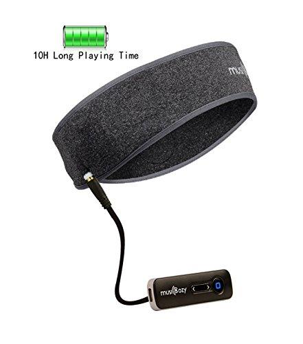 PUMICE Bluetooth Headband Music Sweatband Sleeping Headband Headset Headband Bluetooth Headphone Headband with Wireless Speakers Mic Sweatband for Gym Yoga Running Exercise Gym