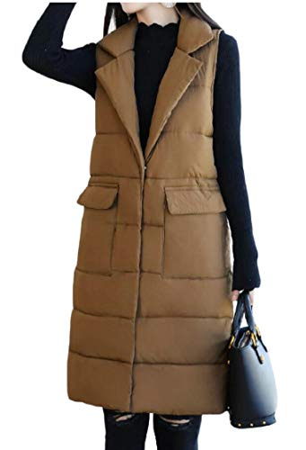 Vest Casual Long Jacket Down Coat TTYLLMAO Thickened Women's 1 1aBnqS