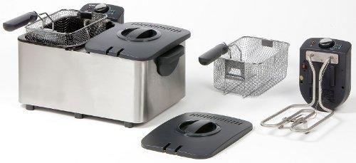 Fritteusen - Freídora doble (2 cestos de 3 L cada uno, acero ...