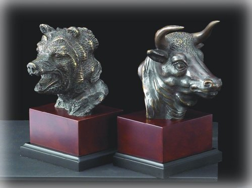 Bull and Bear Bust Bookend
