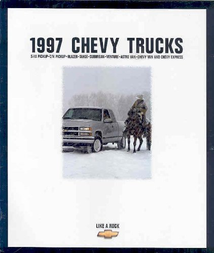 1997 CHEVROLET TRUCKS COLOR SALES BROCHURE: S-10 PICKUP, C/K PICKUP, BLAZER, TAHOE, SUBURBAN, VENTURE, ASTRO VAN, CHEVY VAN & CHEVY EXPRESS - USA (Chevy Brochure)