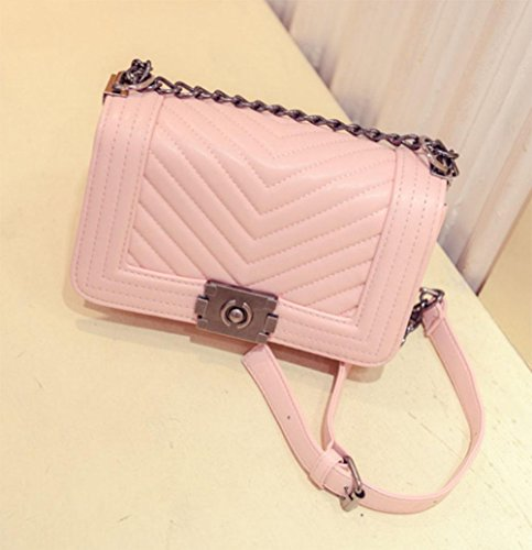 MEILI Handtaschen Handtaschen V-Brief kleine duftende Kette Tasche Schulter Umhängetasche big pink f3UVfZT7
