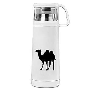 Karen Garden Camel Stainless Steel Vacuum Insulated Water Bottle Leak Proof Handled Mug White,12oz
