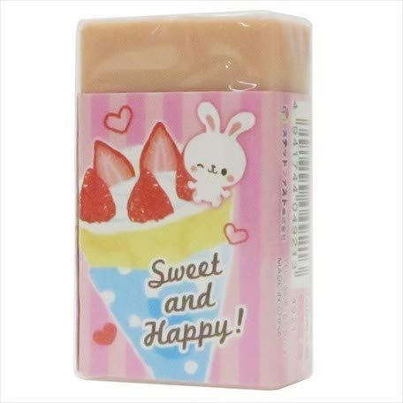 Bunnies Crepe Shop/Magnet with Eraser/Strawberry Aroma of