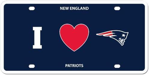 I Heart Style Siskiyou FSLPH005-parent NFL New England Patriots Styrene Plate