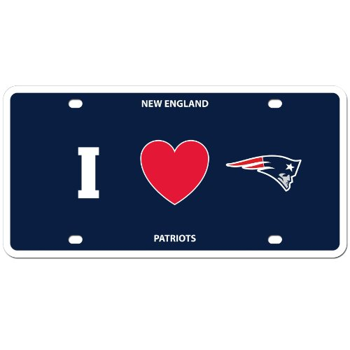 NFL New England Patriots Styrene Plate- I Heart Style